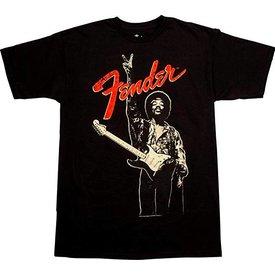 "Fender Fender Jimi Hendrix ""Peace Sign"" T-Shirt, Black"