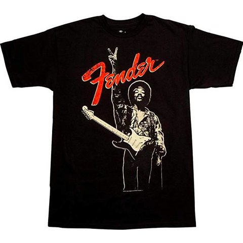 "Fender Jimi Hendrix ""Peace Sign"" T-Shirt, Black"