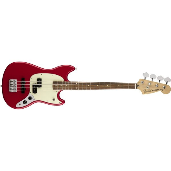 Fender Mustang Bass PJ, Pau Ferro Fingerboard, Torino Red