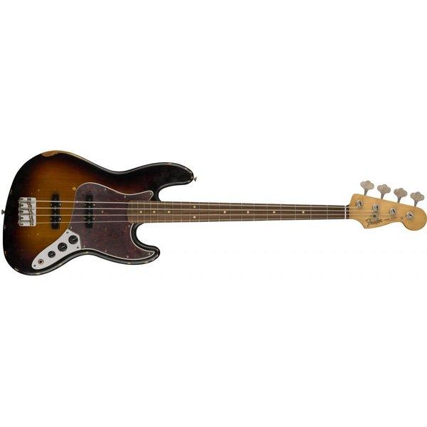 Fender Road Worn '60s Jazz Bass, Pau Ferro Fingerboard, 3-Color Sunburst