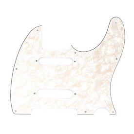 Fender Pickguard, Nashville Series Tele, White Moto, 4-Ply