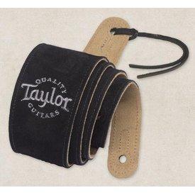 Taylor Taylor Black Suede Logo Guitar Strap