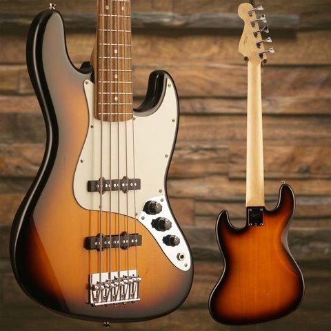 Affinity Jazz Bass V (5 String), Rosewood Fingerboard, Brown Sunburst - Used