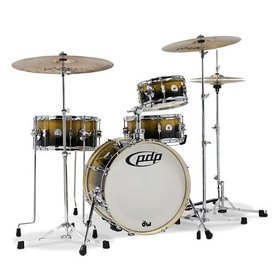 PDP PDP New Yorker Daru Jones 4Pc, Bags & 6000 Hw, Gold-Blk Lacquer Specialty PDDJ1804YBPK
