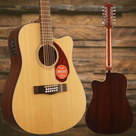 Fender CD-140SCE-12 with Case, Natural