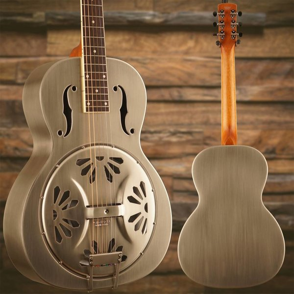 Gretsch Guitars Gretsch G9221 Bobtail Steel Round-Neck A.E., Steel Body Spider Cone Resonator Guitar, Fishman Nashville Resonator Pickup