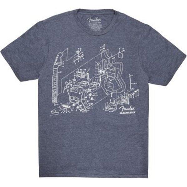 Fender Fender Jazzmaster Patent Drawing T-Shirt, Blue, M