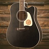 Ibanez AW360CEWK Artwood Dreadnought Acoustic Electric Guitar - Weathered Black