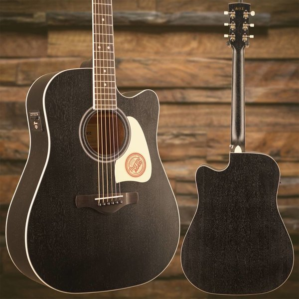 Ibanez Ibanez AW360CEWK Artwood Dreadnought Acoustic Electric Guitar - Weathered Black