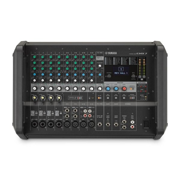 Yamaha Yamaha EMX7 12 Input Powered Mixer w/ Dual 710 Watt Amp - Used