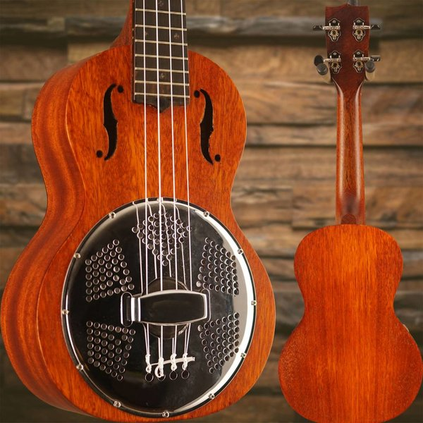 Gretsch Guitars Gretsch G9112 Resonator-Ukulele w/ Gig Bag, Biscuit Cone, Vintage Mahogany Stain