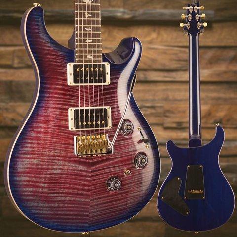 PRS Paul Reed Smith Custom 24 Piezo Ten 10-Top, Pattern Thin Neck, Violet Blue Burst