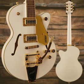Gretsch Guitars Gretsch G5655TG-LTD Limited Edition Electromatic Center Block Jr. Single-Cut w/ Bigsby & Gold Hardware, Laurel Fingerboard, Snow Crest White