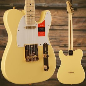 Fender Fender Limited Edition American Pro Telecaster, Maple Neck, Vintage White w/ Gold HW SN/US18001111