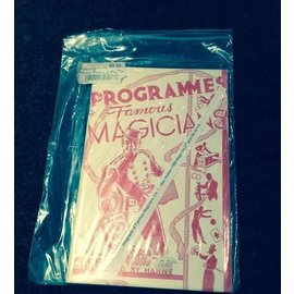 Magic Inc USED Programs of Famous Magicians Vol. 1 - Max Holden 1968 Magic Inc 2nd print VG - Book (M7)