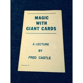 Emerson And West USED Magic With Giant Cards A Lecture By Fred Castle - Book (M7)