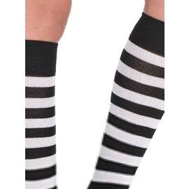 Costume Mates Striped Socks Black/White (C14)