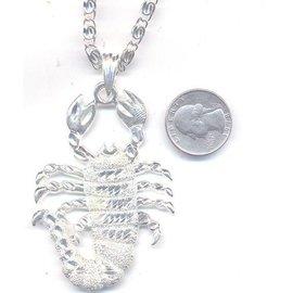 Scorpion Necklace Silver (C4)