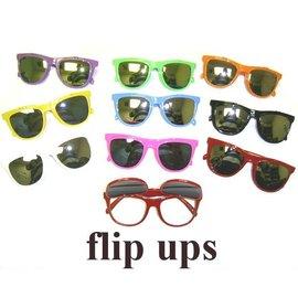 Flip Up Sunglasses White