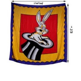 Royal Magic Silk - Rabbit in the Hat - 6 Foot Square (M11)