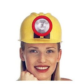 Jacobson Hat Company Miner Hard Hat with Light