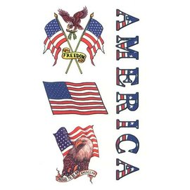 Johnson And Mayer Proud American Temporary Tattoos