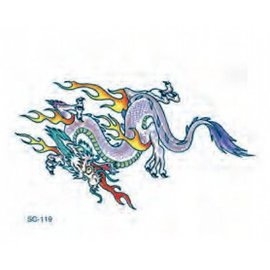 Johnson And Mayer Flaming Dragon Temporary Tattoo