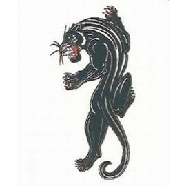 Johnson And Mayer Blue Panther Temporary Tattoo