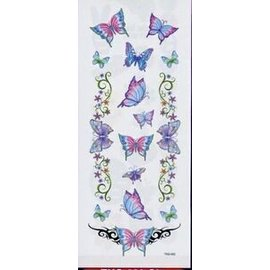 Johnson And Mayer Glitter Butterfly Garden Temporary Tattoos