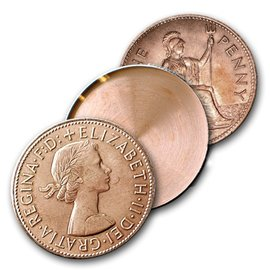Johnson Products Expanded Shell, English Penny - Heads by Johnson - Coin (M10)