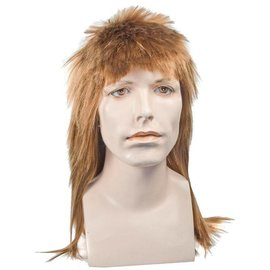 Lacey Costume Wig Long Mullet Brown Wig