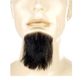 Lacey Costume Wig 1 Point Beard Goatee Black - Human Hair