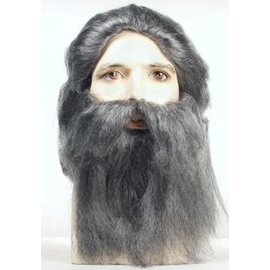 Lacey Costume Wig Coal Miner AT1005 Grey Wig And Beard