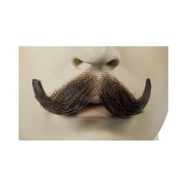 Lacey Costume Wig English Moustache Black
