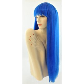 Lacey Costume Wig Long Pageboy Blue Wig