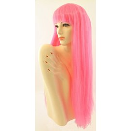 Lacey Costume Wig Long Pageboy Lt, Pink Wig