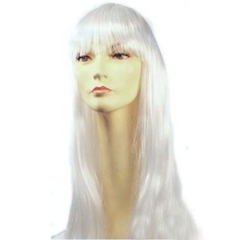 Lacey Costume Wig Long Pageboy, White Wig