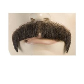 Lacey Costume Wig Moustache - Villain, Black