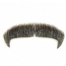 Lacey Costume Wig Moustache - Villain Grey