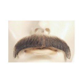Lacey Costume Wig Moustache - Villain, White