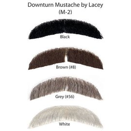 Lacey Costume Wig Downturn Moustache, Black 1 M2