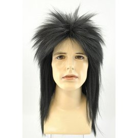 Lacey Costume Wig Punk Fright, Black - Wig