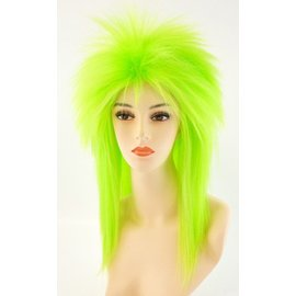 Lacey Costume Wig Punk Fright, Green - Wig