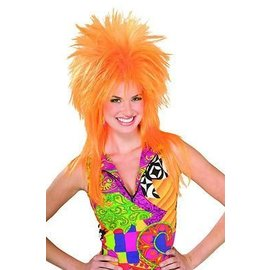 Lacey Costume Wig Punk Fright, Orange - Wig