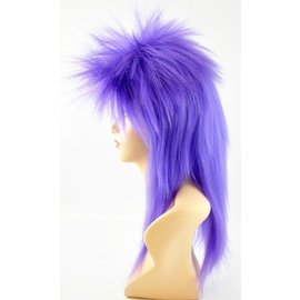 Lacey Costume Wig Punk Fright, Purple - Wig
