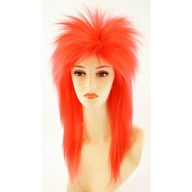 Lacey Costume Wig Punk Fright, Red - Wig