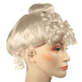 Lacey Costume Wig Mrs. Claus Santa, Gibson Girl White Wig (/203)