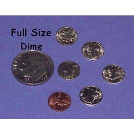 "Dozen Mini U.S. Coins - 3/8"" Half Dollar - Coin (M10)"