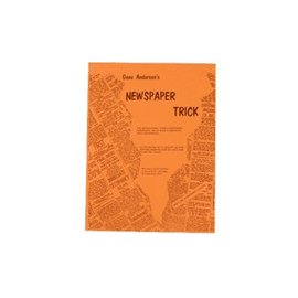 Magic Inc Newspaper Trick by Gene Anderson - Book (M7)