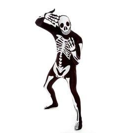 morphsuits Skeleton Morphsuit - Black 2XL Plus